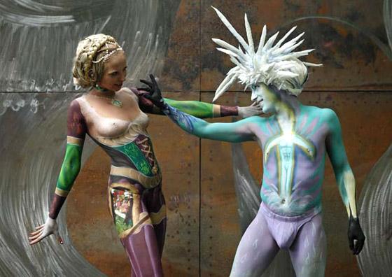 第17届世界人体彩绘艺术节的视觉盛宴