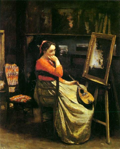 法国古典派画家柯罗油画作品欣赏图片