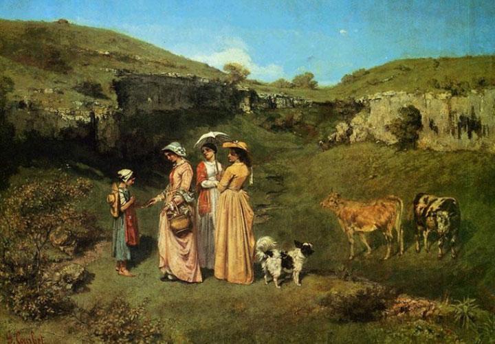 法国现实主义画家居斯塔夫·库尔贝油画欣赏--艺术