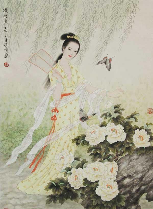美女为肌玉为骨中国画中的古代冰雪恶搞_美女图片