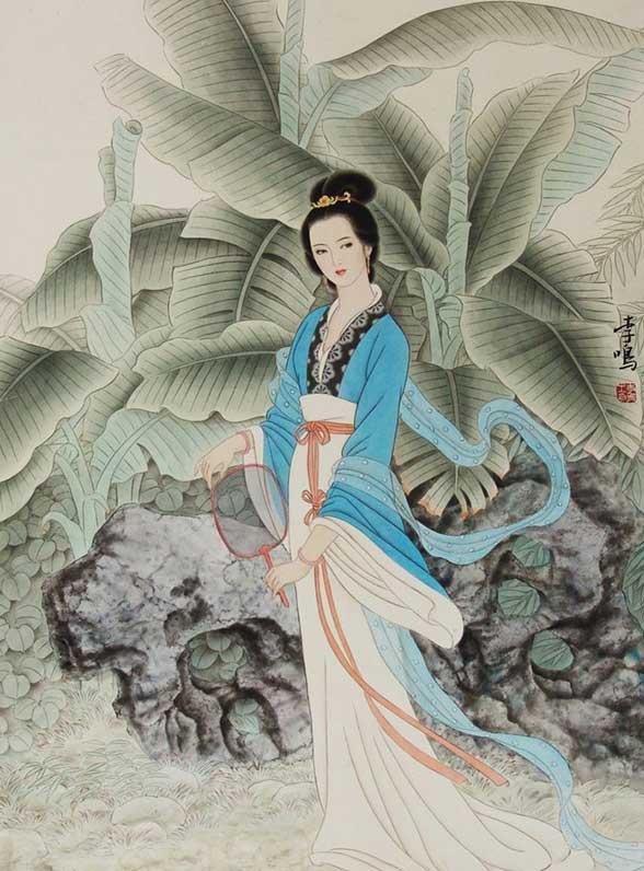 美女为肌玉为骨中国画中的古代冰雪射美女內30P图片