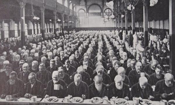 圣马里波恩济贫院的晚宴,1900
