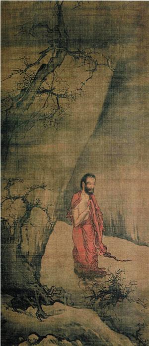 南宋 梁楷 出山释迦图 绢本设色 117.6×51.8cm 日本东京国立博物馆藏