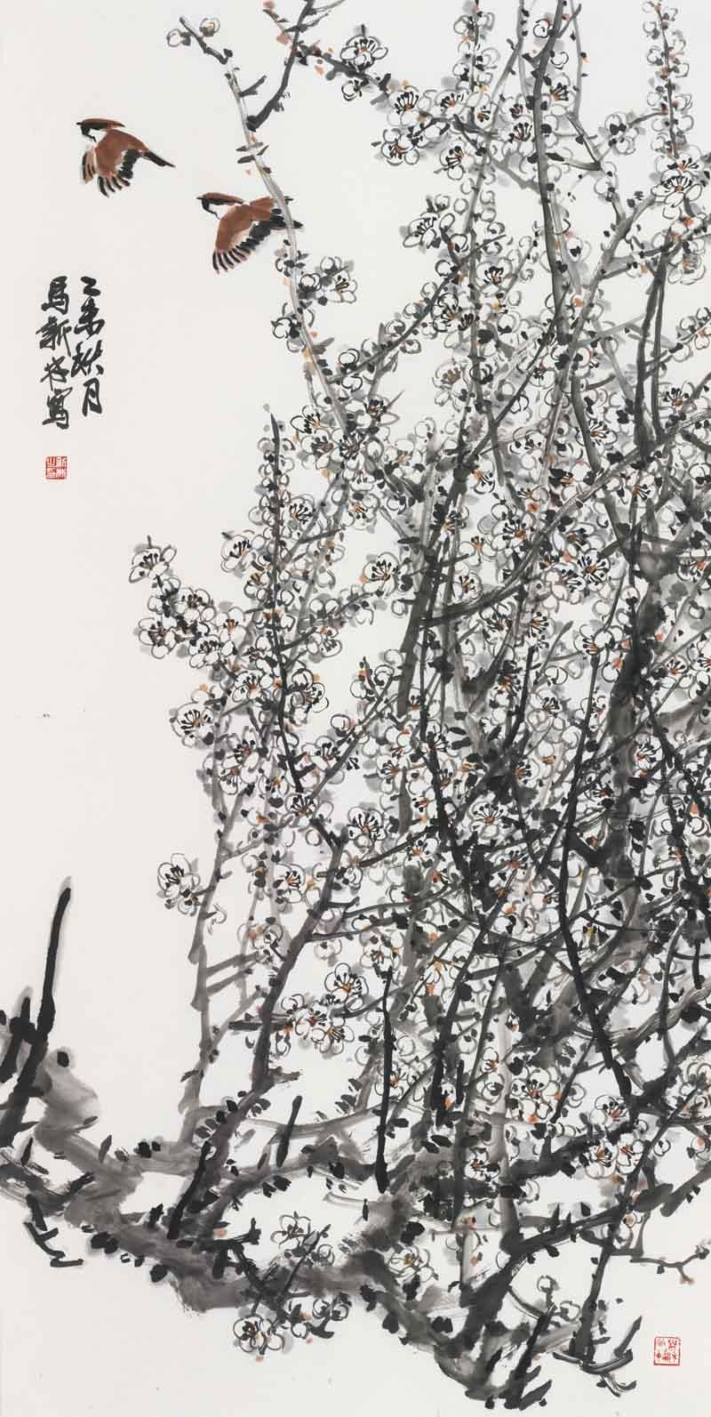 梅花手绘步骤图解