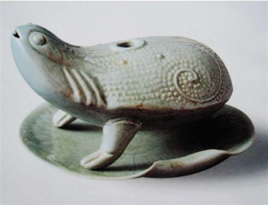 越窑青瓷蟾滴 约北宋时期