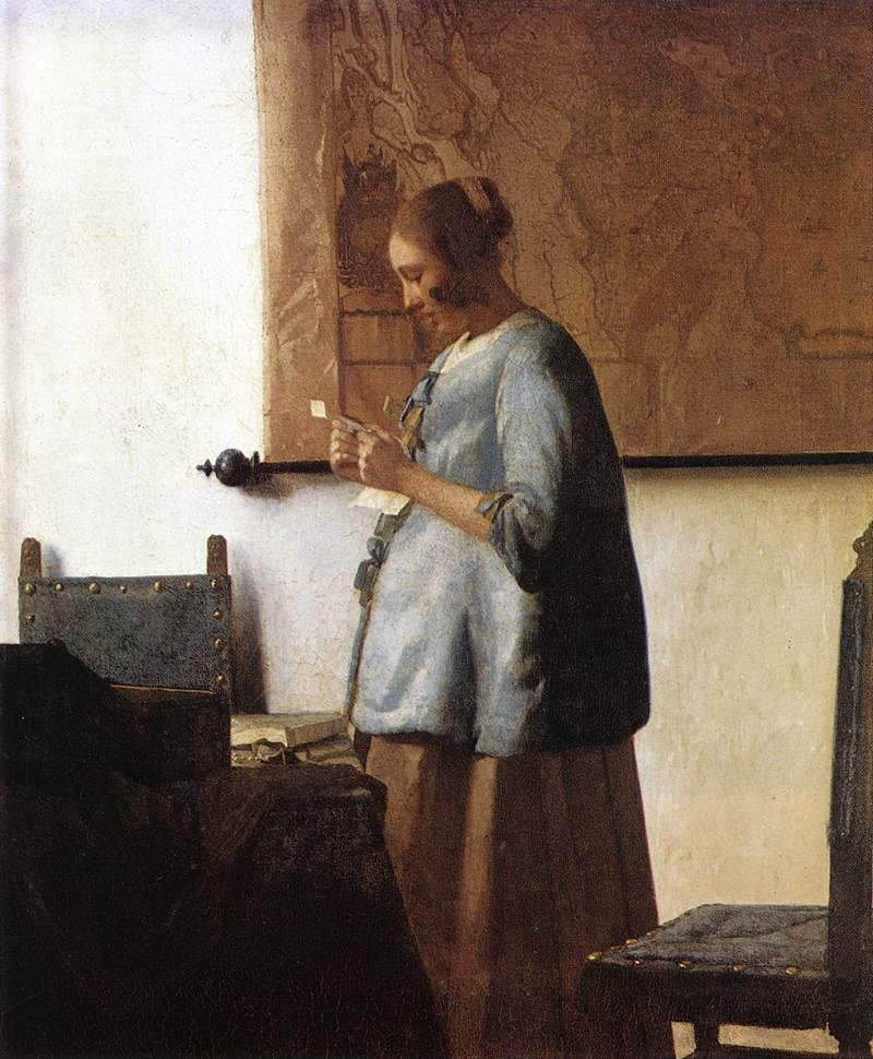 风俗画大师维米尔油画作品欣赏--书画--人民网