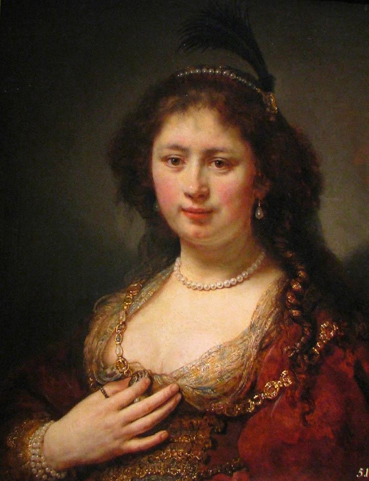 荷兰绘画大师伦勃朗肖像画作品欣赏--书画--人民网