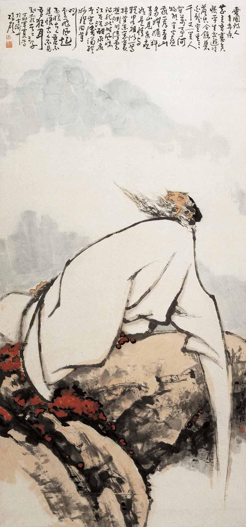 《爱国诗人辛弃疾》198x103cm 1982年