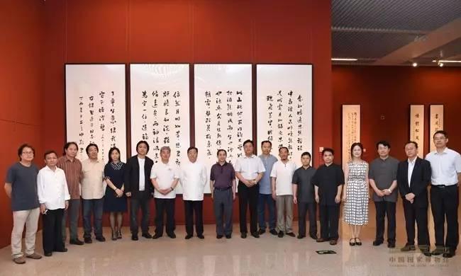 """中国国家博物馆特别举办""""庆七·一书画展"""""""