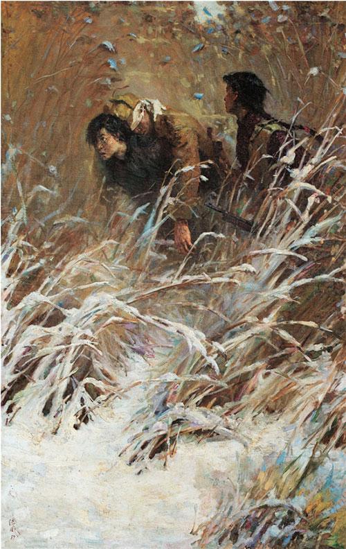 王德威 《英雄的姐妹们》199×124cm 油画 1957年
