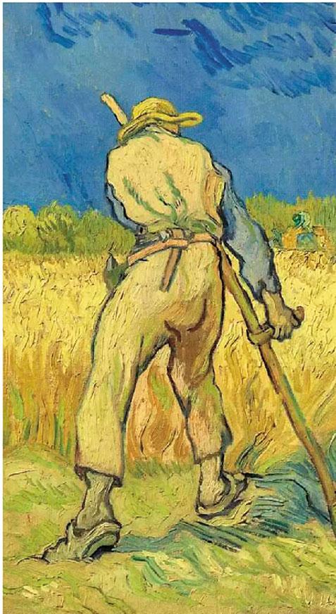 梵高 收割者(摹米勒) 43.3×24.3cm 成交价:24,245,000英镑