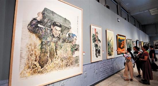 河北省庆祝建军90周年书画摄影主题展开幕