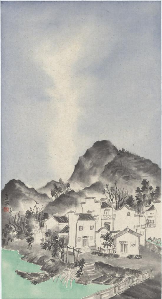 皖南寻幽(二),纸本水墨,2017年,50cm×95cm - 复件