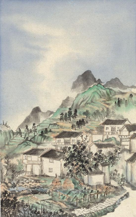 重云翠峰,纸本水墨,2017年,60cm×95cm - 复件