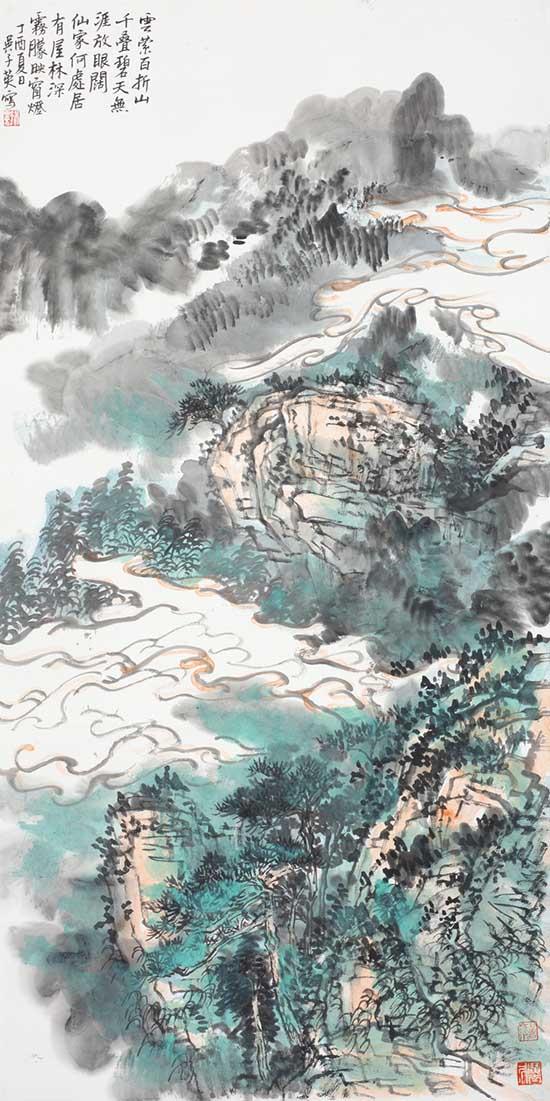吴子英山水画作品欣赏