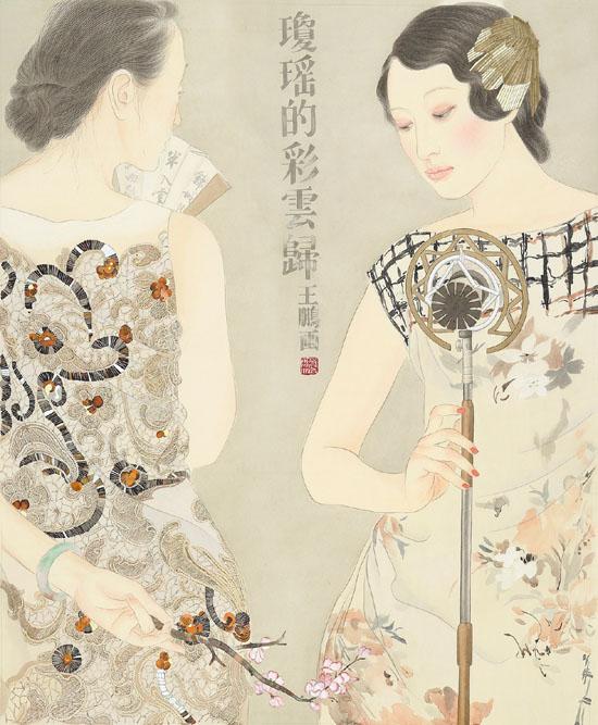 芳香之旅系列——琼瑶的彩云归 80×66cm  2013年
