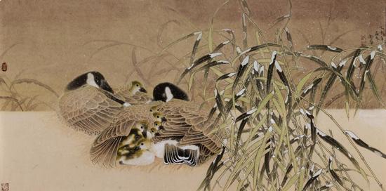 李卫华中国工笔花鸟画作品欣赏