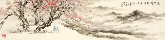姜金军2015 藻雪精神在溪川120×30cm