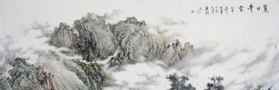 姜金军2016 丽日青云120×130cm