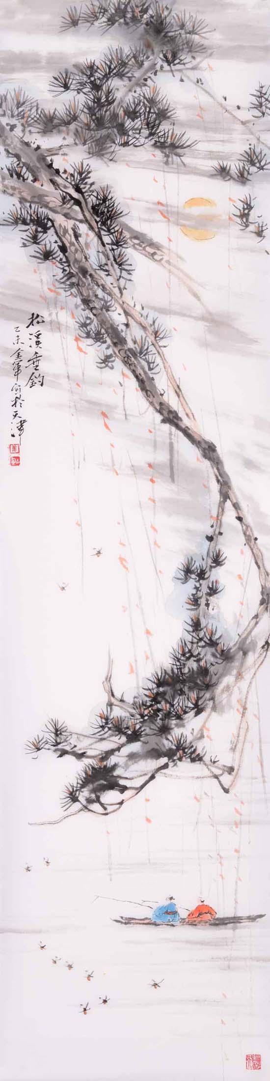 姜金军2015 松溪垂钓30×120cm
