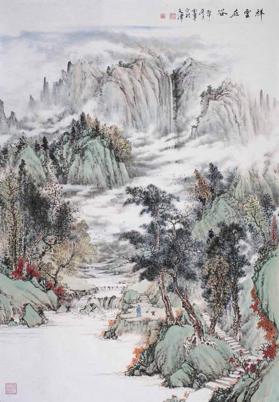 姜金军2016 祥云在谷60×120cm