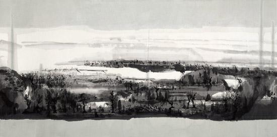 大风景之3   68×136CM  纸本水墨  2009年