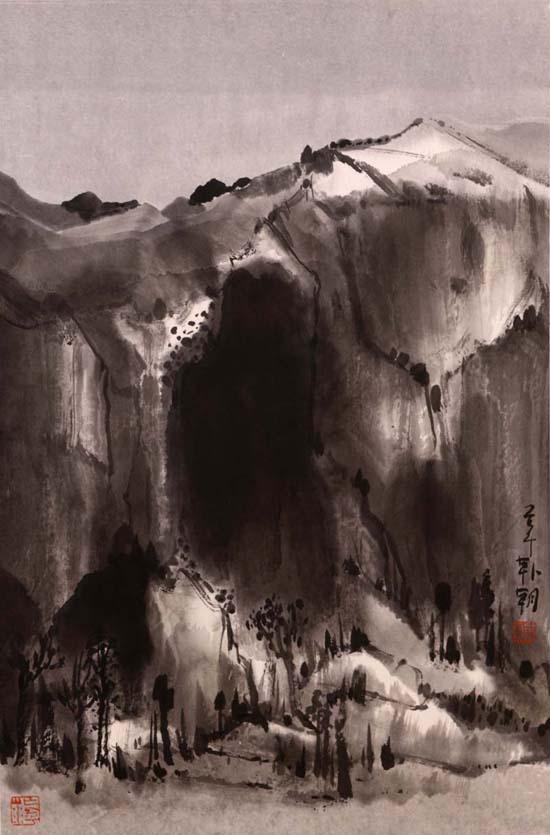 山水日记之冬至,68x45cm,2014年