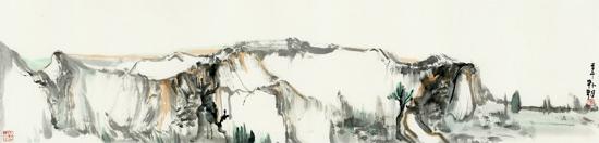 山水日记之空境 34cm×137cm 纸本水墨,2014年