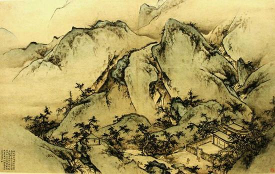 《华山图》 王履 纵34.5厘米 横50.5厘米 北京故宫博物院藏