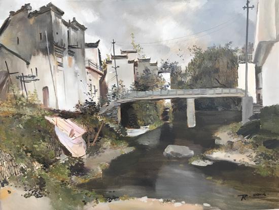 荣·苏和写生风景油画作品欣赏
