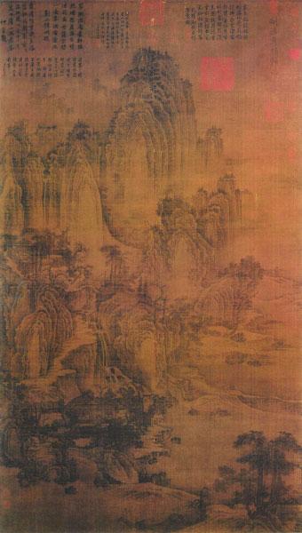 匡庐图(国画) 185.8×106.8厘米  荆浩  台北故宫博物院藏