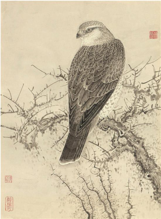 赵少俨 骞翮思远 57×42cm