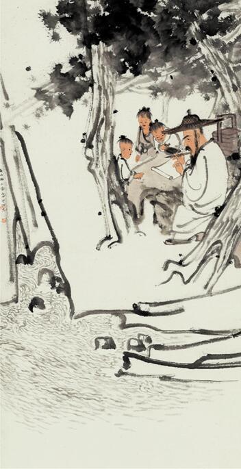 李学明的中国画作品《高凤翰》被评为美术类一等奖