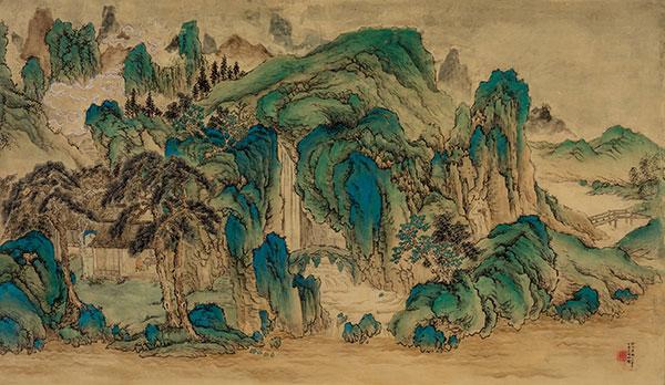《辋川十景图》杨柳 临摹