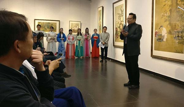北京師範大學藝術與傳媒學院院長鬍智鋒現場致辭。