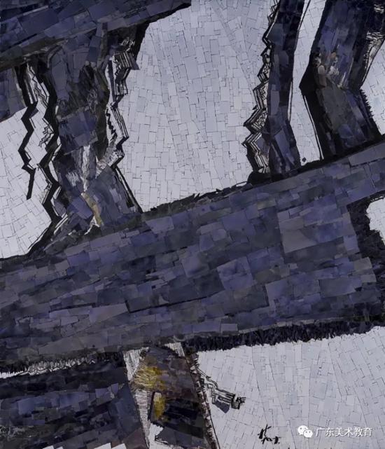 林学明 《触山109号》169cm×145cm 2017年.