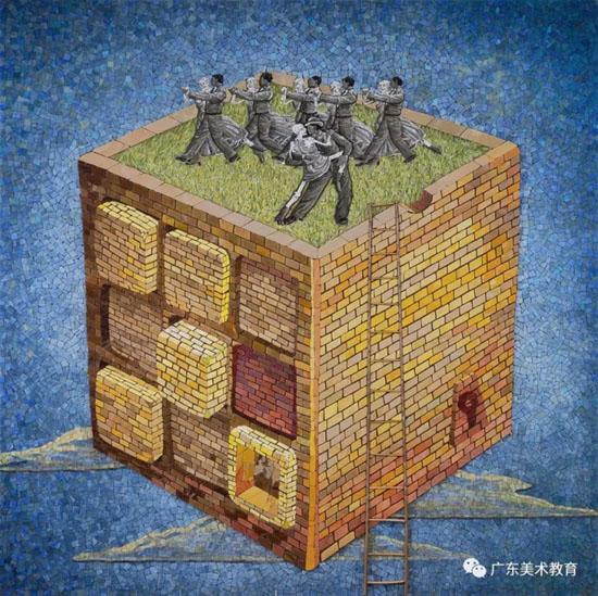 张敏杰 《境》135cm×135cm 2017年