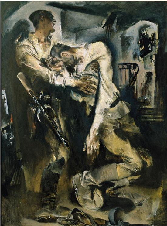 莫伊谢延科 胜利 布面油画 200×150cm 1970-1972年