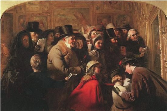 乔治·伯纳德·奥尼尔 舆论 布面油画 1863年 利兹市立美术馆