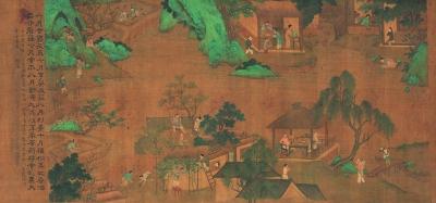 豳风七月图卷 局部(国画) 54.5×1004.5厘米 宋 刘松年 北京画院藏
