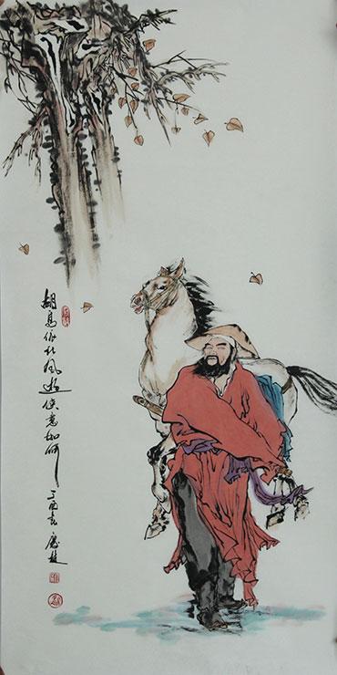 卜庆麟的画室中大幅人物作品占多数,足见其扎实的绘画功力