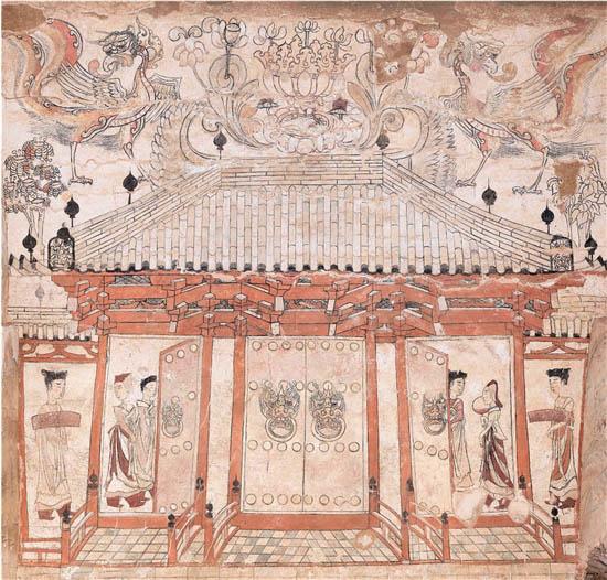中国古代壁画艺术为我们保留了宗教、礼仪、风俗灯光