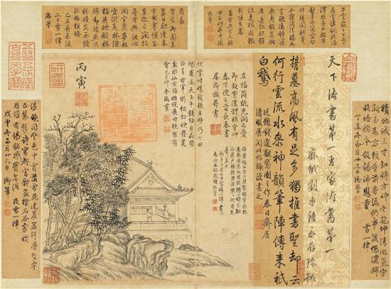 中国历代帝王中,最热衷于题字作跋的莫过于乾隆