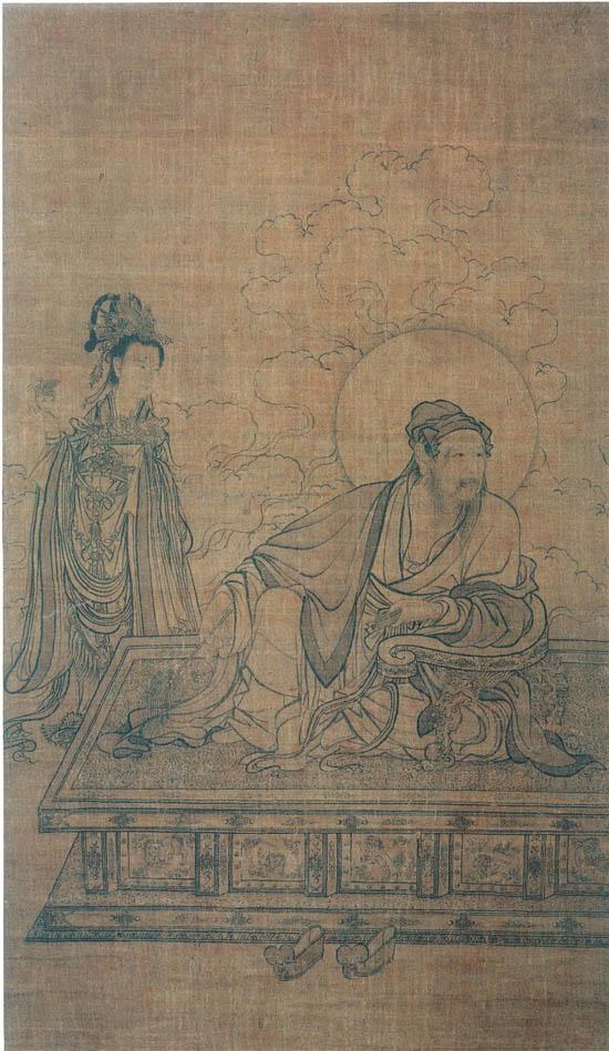 宋 李公麟(传) 维摩居士图 京都国立博物馆藏