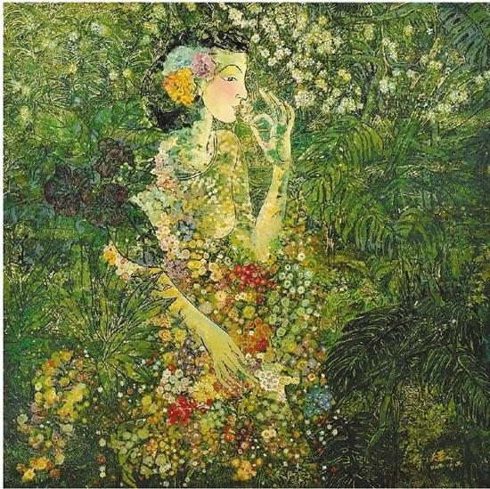 关慧仪长期从事漆画艺术创作,她的漆画作品贴近生活,触摸自然,在她的