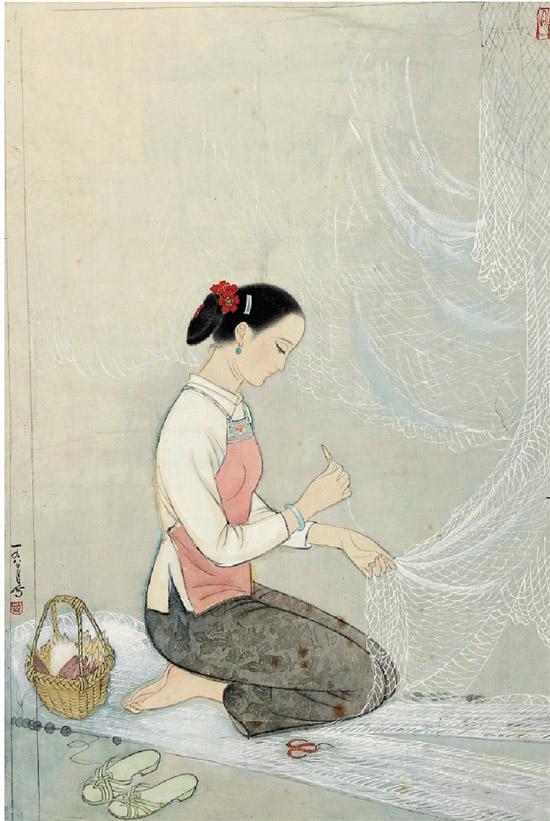 《故乡寻梦·织渔网》网起的画缘与师生情缘