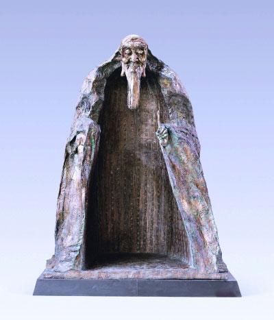 """吴为山雕塑的""""老子与《道德经》"""",充分运用了史料"""