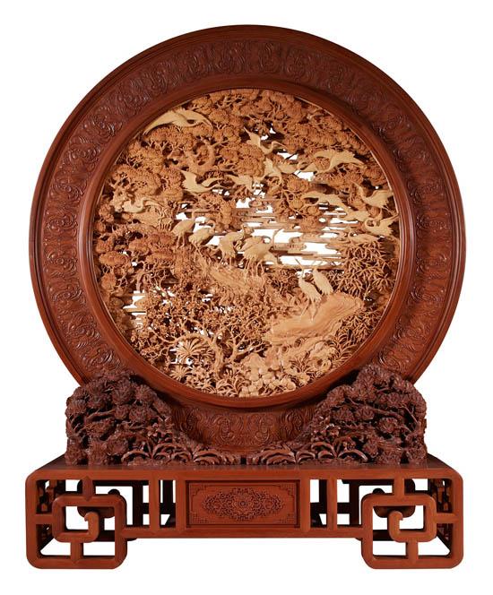 """""""丝路华章""""陆光正从艺六十年东阳木雕大展在国家博物馆开展"""