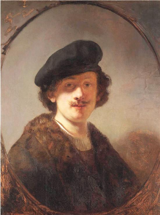 眼部蒙上阴影的自画像 荷兰 伦勃朗·凡·莱因 板面油画 71.1×56cm 莱顿收藏