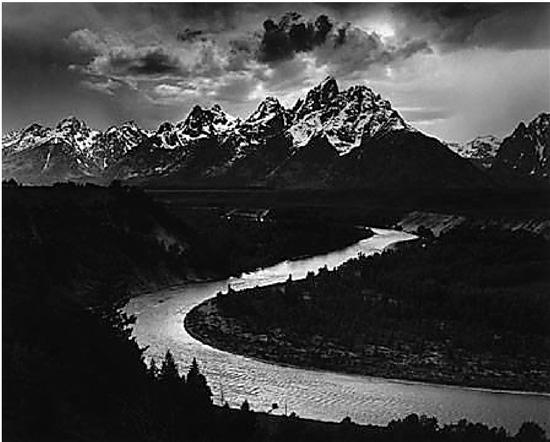 安塞尔·亚当斯 提顿山和斯内克河 1942年